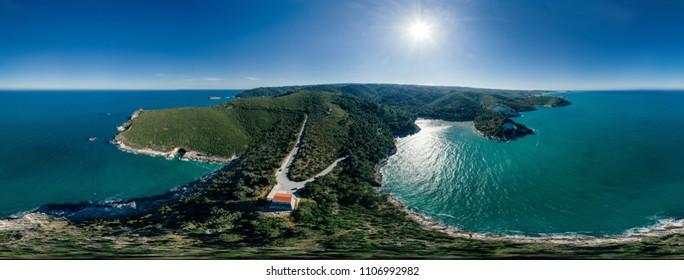 Vieste Apulia City Sea Coastline blue in Italy 360