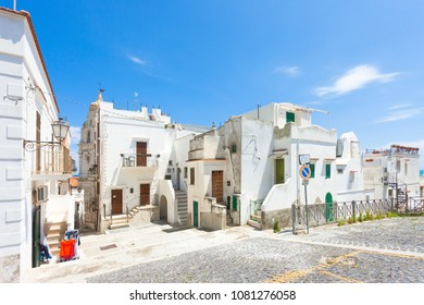 Vieste, Italy, Europe - Traditional lifestyle in the historic streets of Vieste