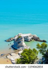 Vieste, puglia, Italy: Pizzomunno Beach (Castle Beach)