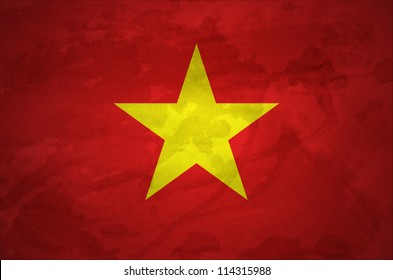 Vietnag grunge flag