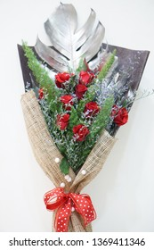 Vietnam, 15th Jan, 2019 - A mixed flower bouquet - flower design, flower decoration - birthday occasion, wedding anniversary, celebrating occasion or funeral occasion