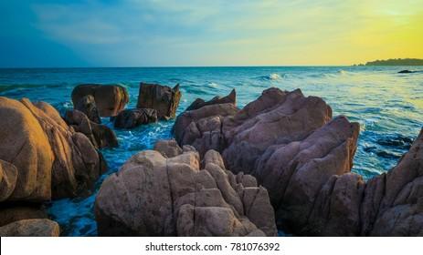 Vietnam beautiful hidden Ca Na beach, a new destination in the central of Vietnam. It's belong Ninh Thuan province.