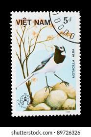 VIETNAM - CIRCA 1986: a stamp printed by VIETNAM shows birds, series animals, circa 1986