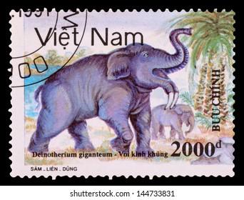 VIETNAM - CIRCA 1991: A stamp printed in the VIETNAM, shows dinosaurs, circa 1991