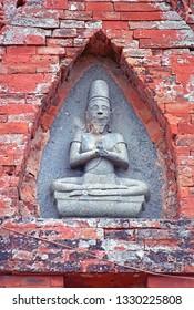 Vietnam, Da Lat, Po Klong Garai ancient Hindu Temple decoration.