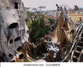 "VIETNAM, DALAT - MARCH 25, 2018: ""Crazy house"" - landmark city of Dalat"