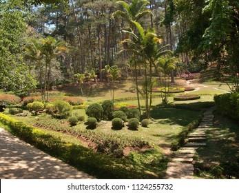 VIETNAM, DALAT - MARCH 26, 2018: The city of Dalat is a beautiful park in Pren
