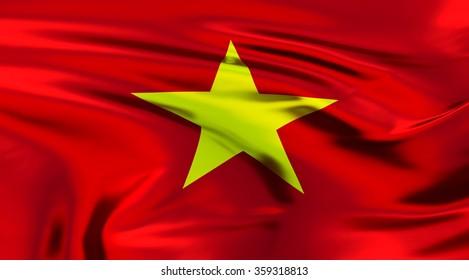 Vietnam Flag. 3d illustration