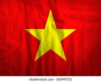 Vietnam flag fabric texture textile background