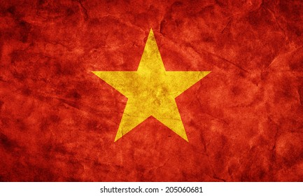 Vietnam grunge flag. Vintage, retro style. High resolution, hd quality. Item from my grunge flags collection.