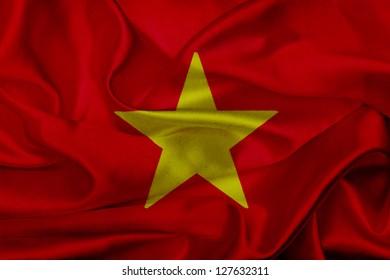Vietnam grunge waving flag