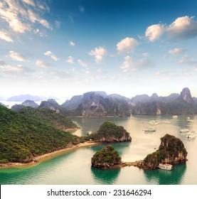 Vietnam - Halong Bay panoramic view