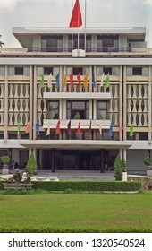VIETNAM, HO CHI MINH – JANUARY 15, 2001: the Reunification Palace historic building in the city. Typical place to visit.
