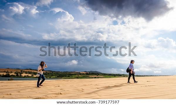 Vietnam Mui Ne White Sand Dunes Stock Photo Edit Now 739177597