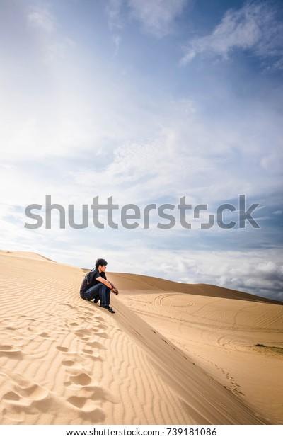 Vietnam Mui Ne White Sand Dunes Stock Photo Edit Now 739181086