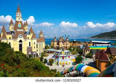VIETNAM, NHA TRANG - APRIL, 2018: Big Castle in Vinpearl amusement park