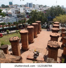 VIETNAM, NHA TRANG - MARCH 23, 2018: Temple complex Ponagar of the medieval Champa state in Nha Trang city Vietnam