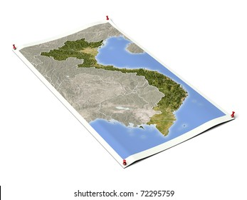 3d relief map denmark line sight stock illustration 4765312 vietnam on unfolded map sheet with thumbtacks map colored according to vegetation with borders publicscrutiny Gallery