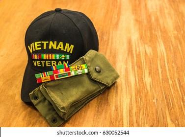 Vietnam Veteran Ribbons With Magazine Holder