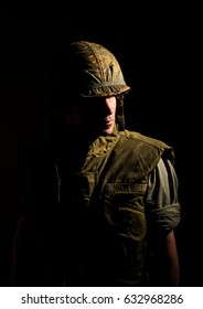 Vietnam War Soldier With PTSD