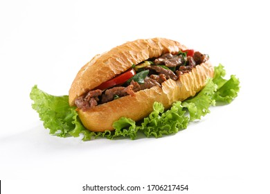 Vietnamese bread with beef, pork, chicken and chili