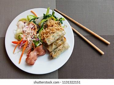 Vietnamese breakfast on a plate