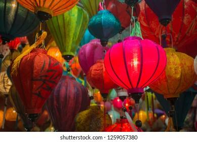 Vietnamese Chinese lanterns background, national backgrounds