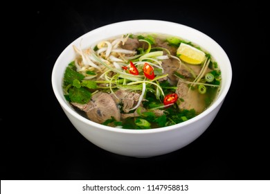 Vietnamese cuisine Pho Bo soup with beef