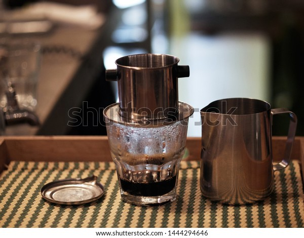 Vietnamese Drip Alternative Coffee Maker Pot Stock Photo Edit Now 1444294646