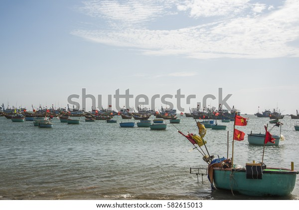 Vietnamese fishing village, Mui Ne, Vietnam, Southeast Asia