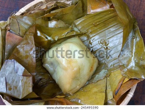 Vietnamese Food Banh Gio Pyramid Shaped Stock Photo Edit Now 245495590