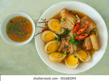 Vietnamese food, chinese braised pork and egg