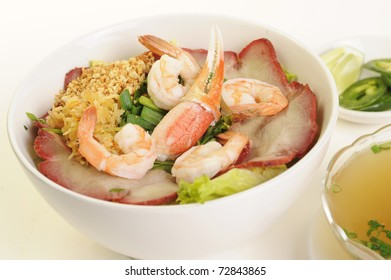 Vietnamese food isolated on white