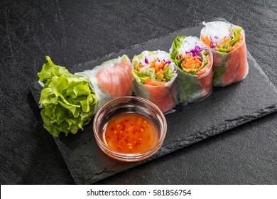 Vietnamese food  spring rolls
