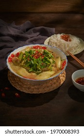 Vietnamese food vintage style - Hot sour soup - Canh chua
