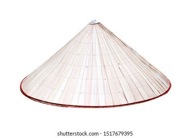 Vietnamese hat in  conical shaped patterns isolated on white background