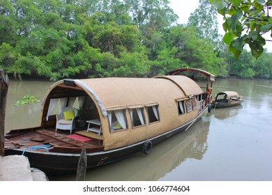 Vietnamese Sampan boat on the Mekong River