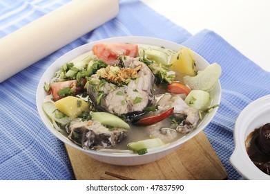 Vietnamese sour fish soup