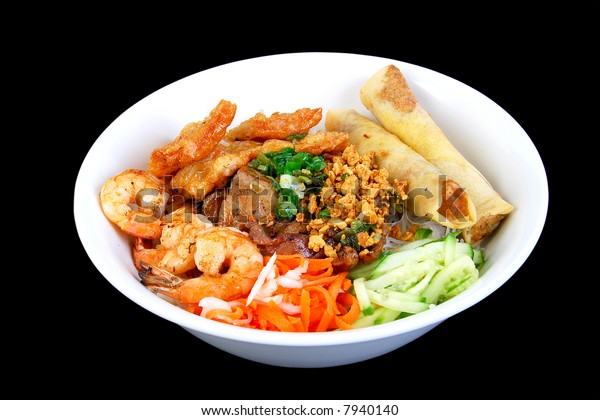 Vietnamese Spring Roll Grilled Shrimp Bbq Stock Photo (Edit Now) 7940140