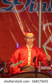 Vietnamese Tet Lunar New Year 2017 Performance at the April 2 Square, Nha Trang City, Vietnam (January 27, 2017)