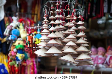 Vietnam's traditional souvenirs are sold in shop at Hanoi's Old Quarter ( Pho Co Hanoi), Vietnam