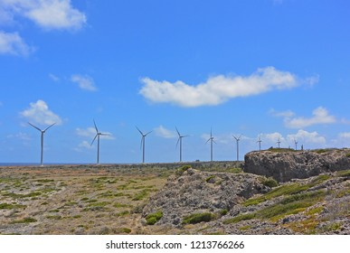 View of 30 MW Windpark Vader Piet, San Nicholas, Aruba
