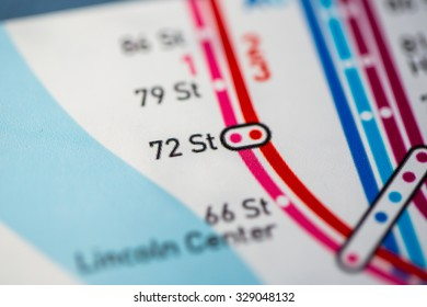 View of 72 St station on the Seventh Avenue Line, a subway service in NYC. (custom map)