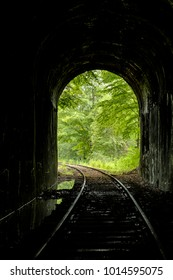A view of the abandoned Mahoning Tunnel along the Railroad in western Pennsylvania.