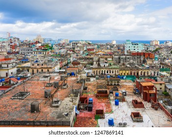 View from above of the downtown in Havana city.