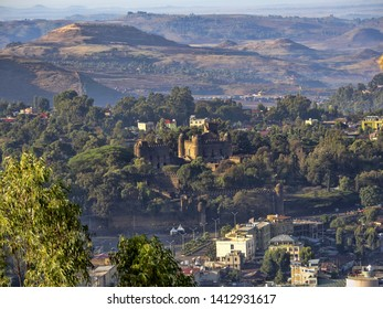 View from above to Gondar Castle, Ethiopia