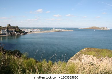 View above Howth harbor, Ireland