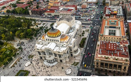 View from above of Palacio de Bellas Artes (Fine Arts Palace) - Mexico City, Mexico