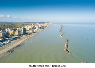 View from above of the Romagna Riviera