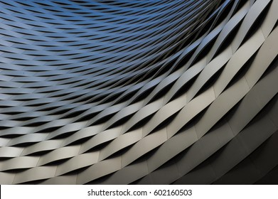 view of a abstract silver structure background
